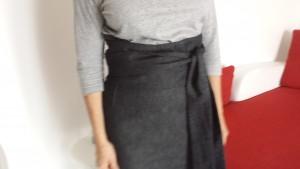 jupe droite toile