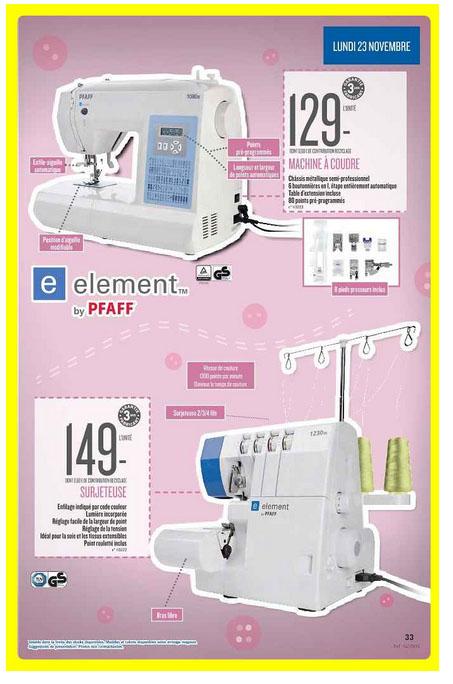machine à coudre electronique et surjeteuse lidl 2015 11 23
