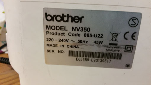 puissance brother NV350p