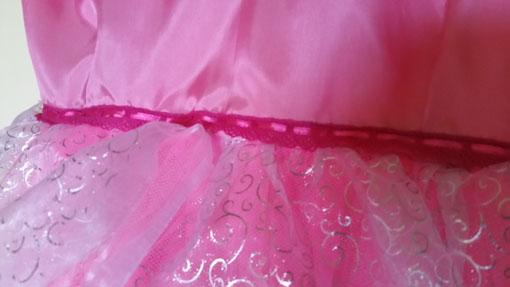 ruban taille robe rose