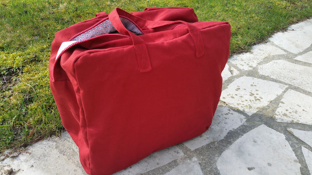 sac week-end aime comme marie rouge