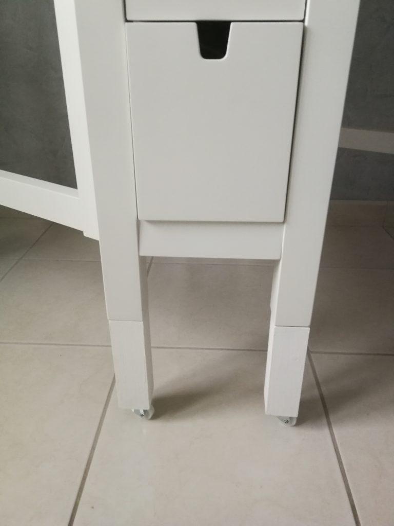 table de coupe réhaussement des pieds